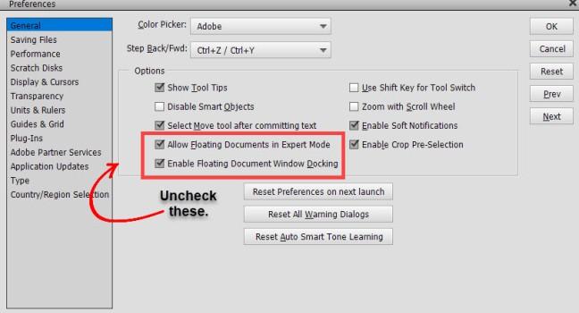 uncheck-floating-docs-edit-preferences